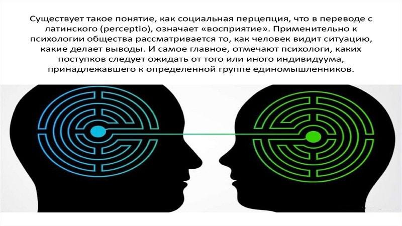 психологические механизмы социальной перцепции